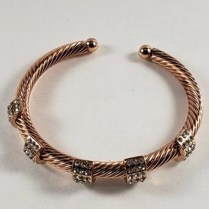 Women's Rose Gold Plated Crystal Cuff Bracelet